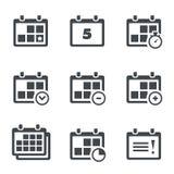 Calendario del icono del vector con las notas Foto de archivo libre de regalías
