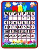 Calendario del maggio 2009 Fotografia Stock