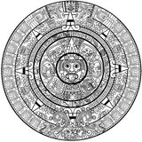 Calendario del maya Fotografía de archivo libre de regalías