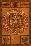 Calendario del Maya Fotografia Stock