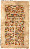 Calendario del maya; 5 de mayo de 2002 Fotos de archivo