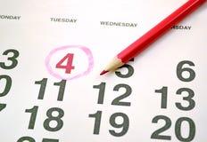 Calendario del mes Foto de archivo libre de regalías