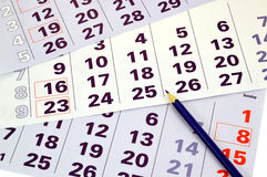 Calendario del mes foto de archivo