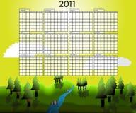 Calendario del paisaje del año 2011 Imágenes de archivo libres de regalías