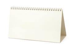Calendario del papel en blanco imagenes de archivo
