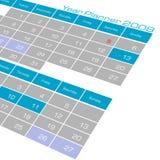 Calendario del pianificatore di anno Fotografia Stock