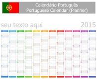 Calendario del planificador de 2015 italianos con meses verticales Imagenes de archivo