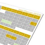 Calendario del planificador del año Imagen de archivo