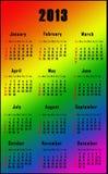 Calendario del Rainbow per 2013 Immagine Stock Libera da Diritti