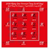 calendario del shui del feng de 2018 chinos 12 meses stock de ilustración