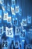 Calendario del tiempo Foto de archivo libre de regalías