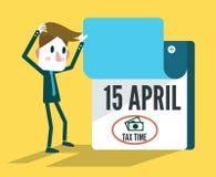 Calendario del tiempo del impuesto Foto de archivo libre de regalías