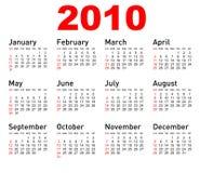 Calendario del vector Foto de archivo