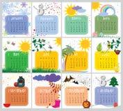 Calendario del vector para 2018 Imagen de archivo libre de regalías
