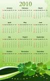 Calendario del vector para el día del St. Patricks Imagen de archivo