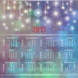 Calendario del vector para 2015 Feliz Año Nuevo stock de ilustración