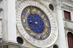 Calendario del zodiaco de Venecia Fotografía de archivo libre de regalías