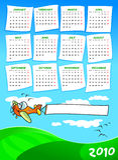Calendario dell'anno prossimo Immagine Stock