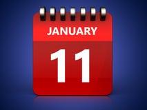 calendario dell'11 gennaio 3d royalty illustrazione gratis