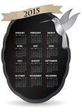 calendario 2015 dell'uccello di ronzio Fotografia Stock