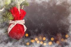 Calendario della decorazione di Natale della cartolina d'auguri Immagine Stock Libera da Diritti
