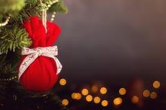 Calendario della decorazione di Natale della cartolina d'auguri Immagini Stock