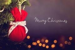 Calendario della decorazione di Natale della cartolina d'auguri Fotografie Stock