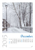Calendario della foto con paesaggio minimalista 2015 Fotografia Stock