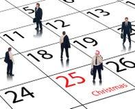 Calendario di affari per le feste Fotografia Stock
