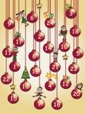 Calendario di arrivo Fotografia Stock