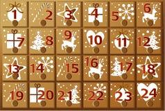 Calendario di arrivo Immagini Stock