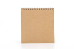 calendario di carta su bianco Immagine Stock