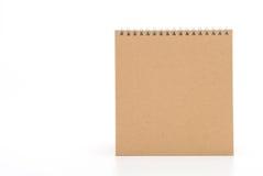 calendario di carta su bianco Immagini Stock Libere da Diritti
