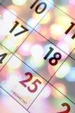 Calendario di dicembre Fotografia Stock