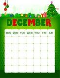 Calendario di dicembre illustrazione vettoriale