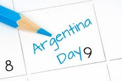 Calendario di festa dell'indipendenza dell'Argentina Fotografie Stock