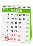 Calendario di festa nell'8 marzo Immagini Stock