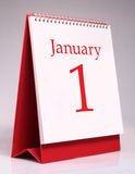 Calendario di gennaio Fotografie Stock Libere da Diritti