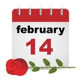 Calendario di giorno del biglietto di S. Valentino Immagine Stock