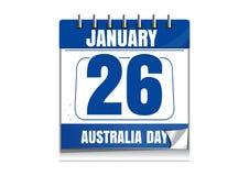 Calendario di giorno dell'Australia Fotografia Stock
