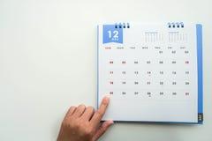 calendario di giorno di Natale del punto della donna dicembre Immagine Stock