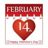 Calendario di giorno di S. Valentino. Fotografie Stock Libere da Diritti