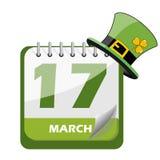 Calendario di giorno di San Patrizio s Fotografia Stock Libera da Diritti
