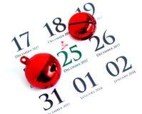 Calendario di giorno di Natale sul diario Immagine Stock