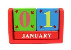 Calendario di legno Fotografie Stock Libere da Diritti