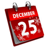 Calendario di natale Fotografia Stock Libera da Diritti