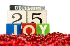 Calendario di Natale Fotografia Stock