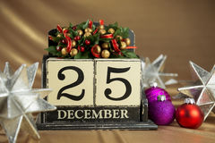 Calendario di Natale fotografie stock