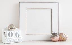 Calendario di Natale - 6 sonni fino a natale Fotografia Stock