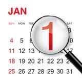Calendario di nuovo anno Immagini Stock Libere da Diritti